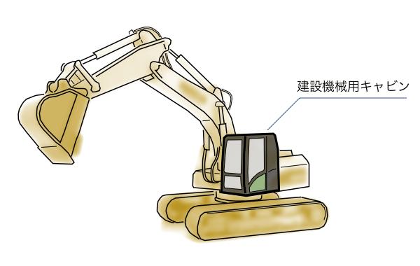 建設機械用キャビン